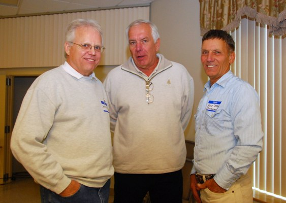 Deek Scott, Dennis O'Connor and Ron Piovesan