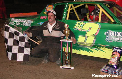 photo of Doug Foster, winner of the Pure Stock race on 09/20/02
