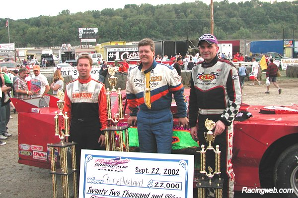 photo of the top three drivers in the 2002 Pittsburgher 100